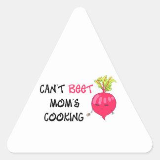Nicht kann das Kochen ROTE RÜBE Mammas Dreieckiger Aufkleber