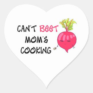 Nicht kann das Kochen ROTE RÜBE Mammas Herz-Aufkleber
