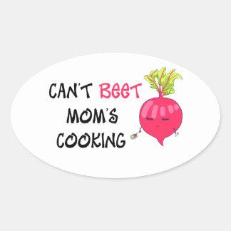 Nicht kann das Kochen ROTE RÜBE Mammas Ovaler Aufkleber