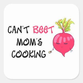 Nicht kann das Kochen ROTE RÜBE Mammas Quadratischer Aufkleber