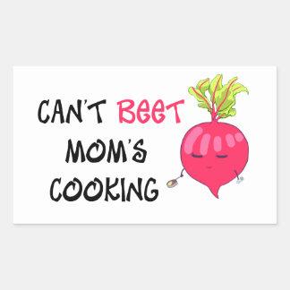 Nicht kann das Kochen ROTE RÜBE Mammas Rechteckiger Aufkleber