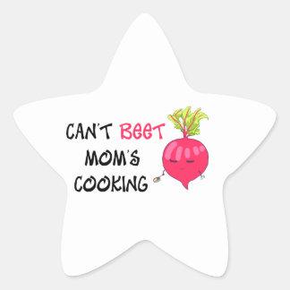 Nicht kann das Kochen ROTE RÜBE Mammas Stern-Aufkleber