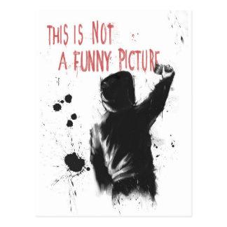 Nicht lustig postkarte