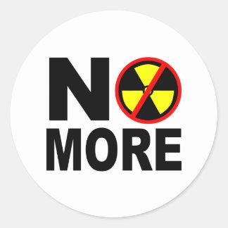 Nicht mehr Anti-Nuklearer Protest-Slogan Runder Aufkleber