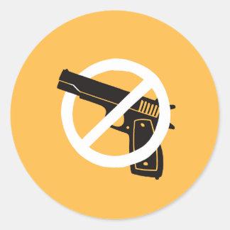 Nicht mehr Gewehre (Aufkleber - Gelb) Runder Aufkleber