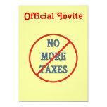 Nicht mehr Steuern 12,7 X 17,8 Cm Einladungskarte