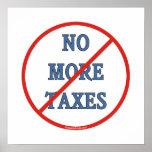 Nicht mehr Steuern Plakatdrucke