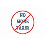 Nicht mehr Steuern Postkarte