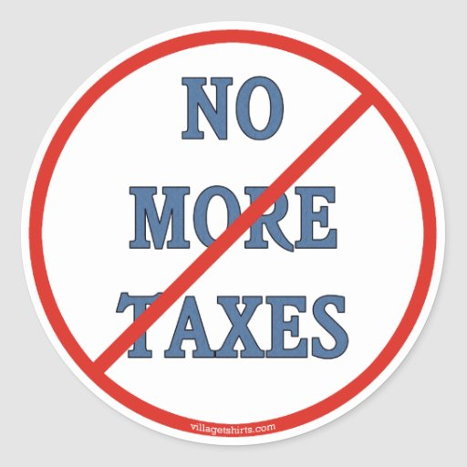 Nicht mehr Steuern Runder Aufkleber