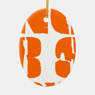 Nicht mehr Stier Ovales Keramik Ornament