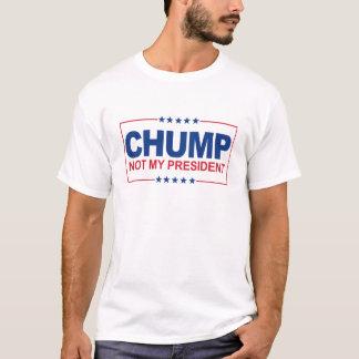 Nicht mein Präsident - Holzklotz-Zeichen -- T-Shirt