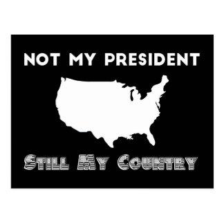 Nicht mein Protest Präsidenten-Still My Country Postkarte