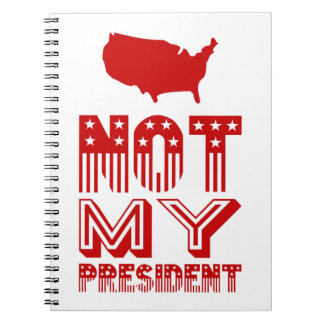 Nicht mein Rot Präsidenten-Amerika Spiral Notizblock