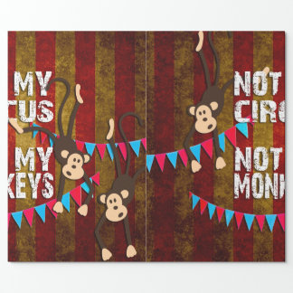 Nicht mein Zirkus nicht meine Affen Geschenkpapier