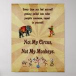 Nicht mein Zirkus, nicht meine Affen Plakatdrucke