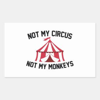 Nicht mein Zirkus Rechteckiger Aufkleber
