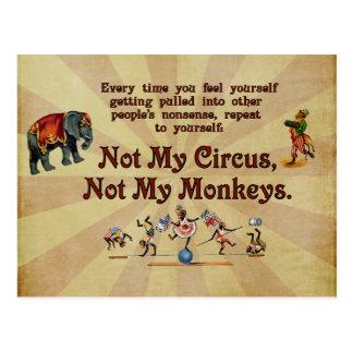 Nicht meine Affen, nicht mein Zirkus Postkarte