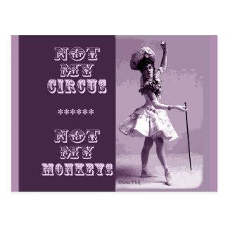 Nicht meine Zirkus-Postkarte Postkarte