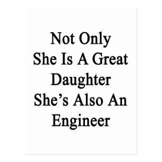 Nicht nur sie ist eine große Tochter, die sie auch Postkarte