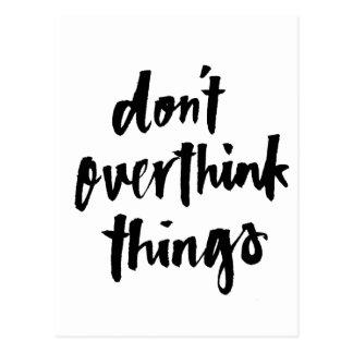Nicht overthink Sachen tun inspirierend Zitat Postkarten