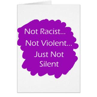 Nicht-Rassist-Lila Karte
