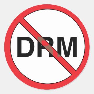 Nicht rechte Management-Aufkleber (DRM) Digital Runder Aufkleber