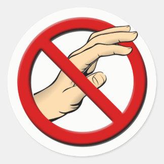 Nicht runden Touch Aufkleber