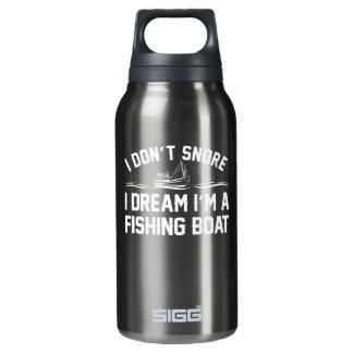 Nicht schnarchen Traumfischerboot-Fischen I Isolierte Flasche