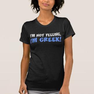 Nicht schreiend bin ich griechisch (auf T-Shirt