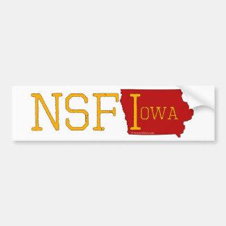 Nicht sicher für Iowa Autoaufkleber
