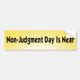 nicht Tag des Jüngsten Gerichtes Autoaufkleber