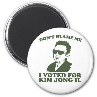 Nicht tun Blam ich, ich wählte für Kim Jong Runder Magnet 5,7 Cm