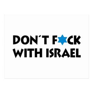 Nicht tun F*ck mit Israel - jüdischer Stolz Postkarte