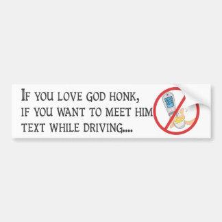 Nicht tun Text und Antrieb! Autoaufkleber