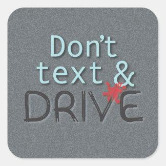 Nicht tun Text-und Antriebs-Aufkleber