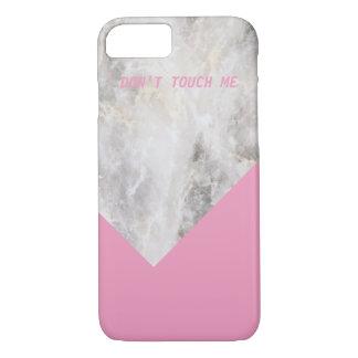 Nicht tun Touch ich minimaler Marmor w \ Farbblock iPhone 8/7 Hülle