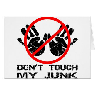 Nicht tun Touch mein Kram Handprint Karte