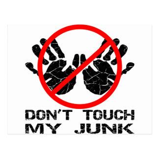 Nicht tun Touch mein Kram Handprint Postkarte