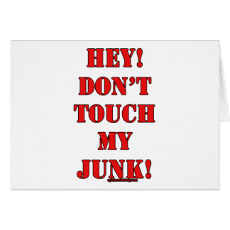Nicht tun Touch mein Kram! Karte