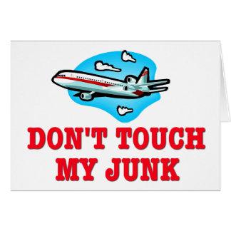 Nicht tun Touch mein Kram TSA Karte