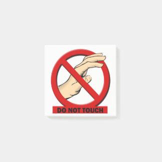 Nicht tun Touch-Post-It 3x3 Post-it Klebezettel