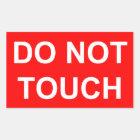 Nicht tun Touch Rechteckiger Aufkleber