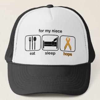 Nichte essen Schlaf-Hoffnung - Leukämie Truckerkappe