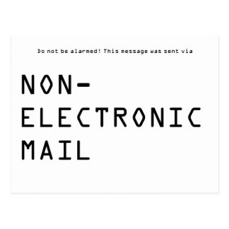 Nichtelektronische E-Mail Postkarte