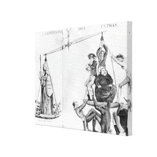 Nichtige Bemühungen des Ultras, 1819 Galerie Falt Leinwand