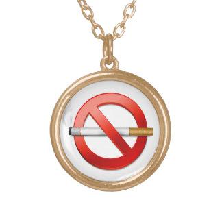 Nichtraucher Halskette Mit Rundem Anhänger