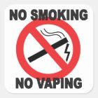 Nichtraucher kein Vaping Zeichenaufkleber Quadratischer Aufkleber