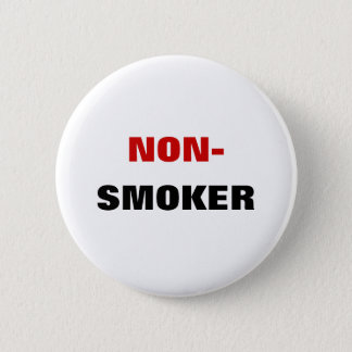 Nichtraucher - Knopf Runder Button 5,1 Cm