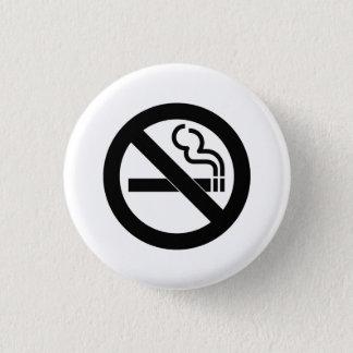 """""""Nichtraucher"""" Piktogramm-Knopf Runder Button 3,2 Cm"""