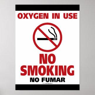 Nichtraucher - Sauerstoff gebräuchlich - kein Poster